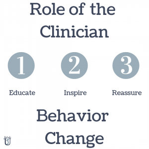 Role of the Clinician For Change
