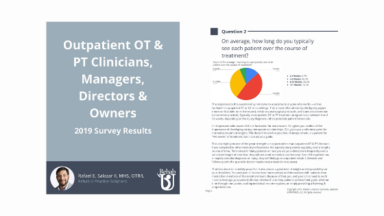 2019 Survey Results: Outpatient PT & OT Clinicians & Clinic Owners