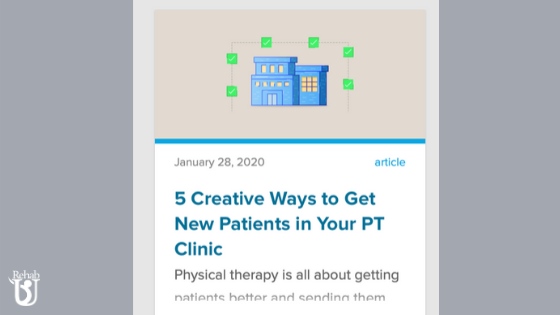 Getting New Patients! Featured in WebPT Article