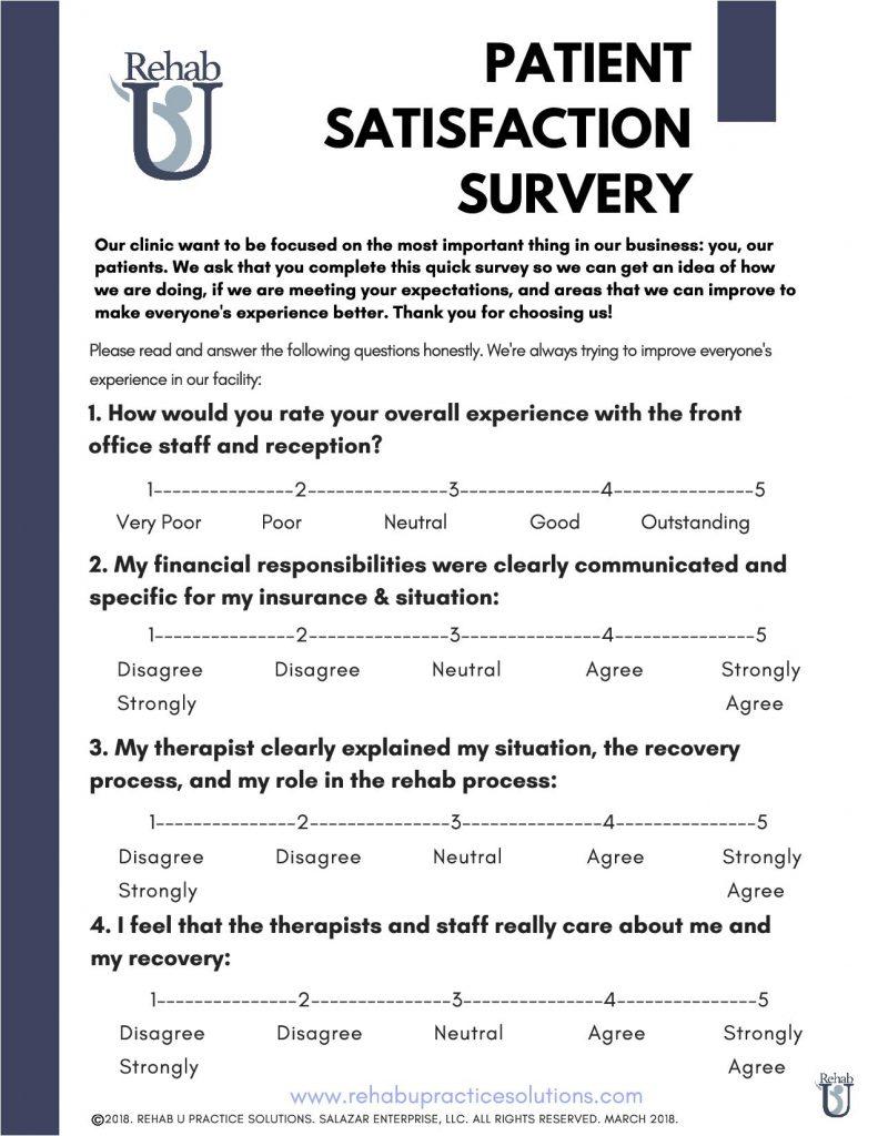 Patient Satisfaction Survey - Rehab U